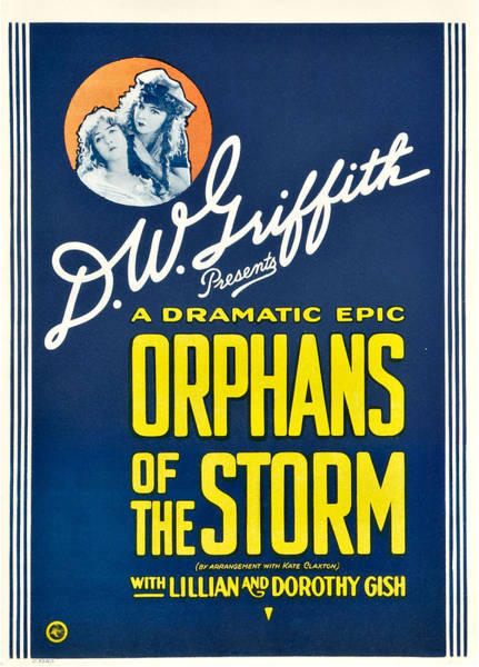 D W Griffith Photograph - Orphans Of The Storm, From Left Dorothy by Everett