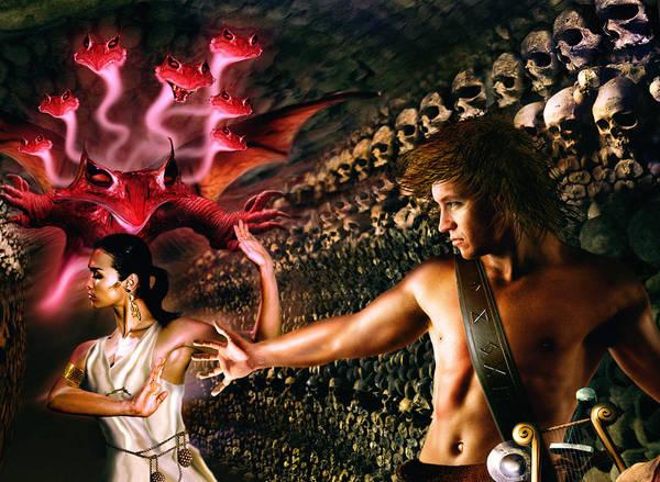 Wall Art - Digital Art - Orpheus And Eurydice by Alessandro Della Pietra