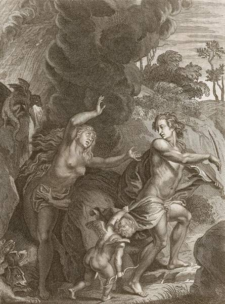 Nymph Drawing - Orpheus, Leading Eurydice Out Of Hell by Bernard Picart