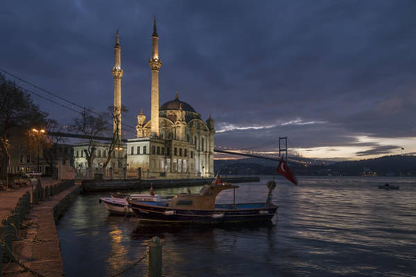 Wall Art - Photograph - Ortakoy Mosque And Bosphorus Bridge by Ayhan Altun