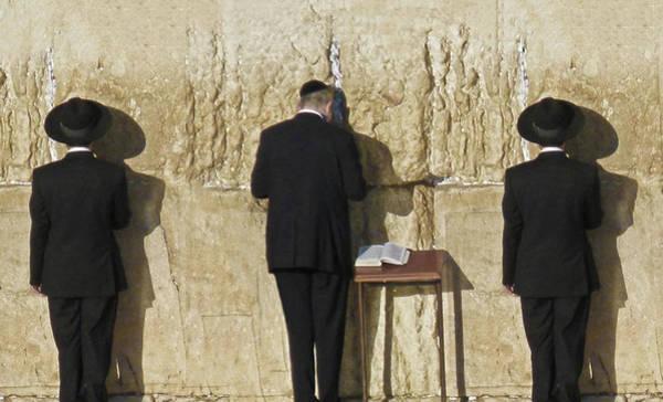Jerusalem Photograph - Orthodox Jewish Prayers At Western Wall by Rosita So Image