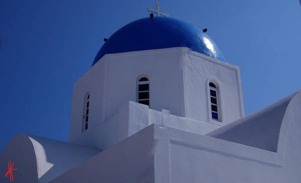 Photograph - Orthodox Santorini Church Greece by Colette V Hera  Guggenheim