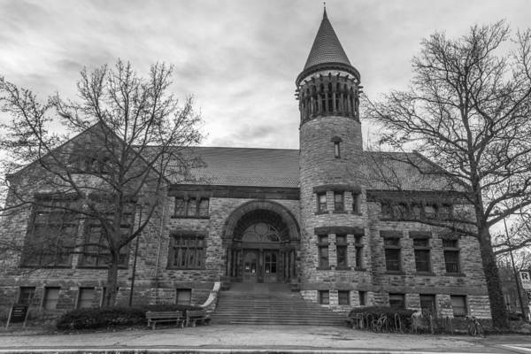Ohio State University Photograph - Orton Hall Osu Black And White  by John McGraw