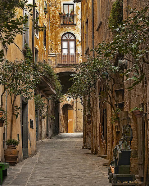 Old World Photograph - Orvieto Side Street by Lynn Andrews