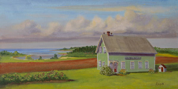 Prince Edward Island Painting - Orwell Cove School by Lorraine Vatcher