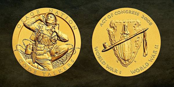 Code Talkers Photograph - Osage Nation Code Talkers Tribe Bronze Medal Art by Movie Poster Prints