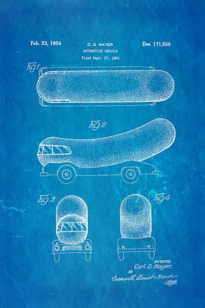 Wall Art - Photograph - Oscar Mayer Wienermobile Patent Art 1954 Blueprint by Ian Monk