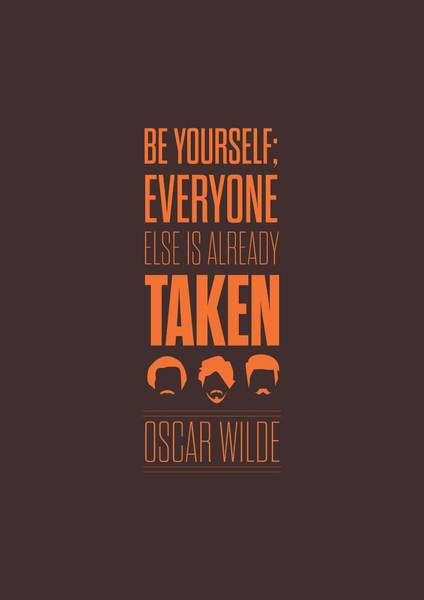 Wall Art - Digital Art - Oscar Wilde Quote Typographic Art Print Poster by Lab No 4 - The Quotography Department