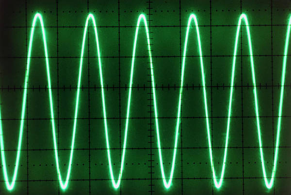 Trace Photograph - Oscilloscope Screen Showing A Voltage/time Trace by Ton Kinsbergen/science Photo Library