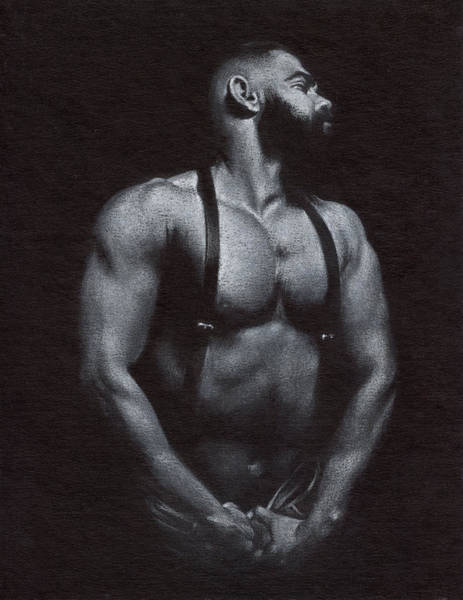 Male Nude Drawing - Oscuro 1 by Chris Lopez