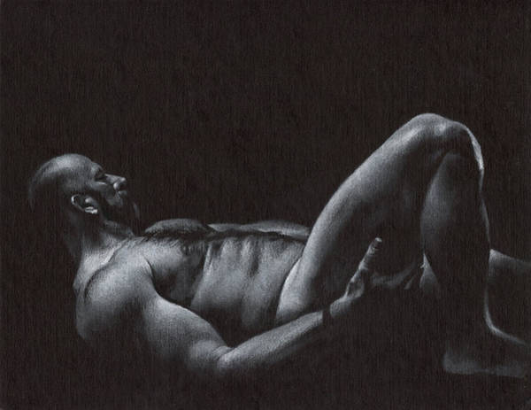 Male Nude Drawing - Oscuro 6 by Chris Lopez