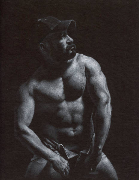 Male Nude Drawing - Oscuro 8 by Chris Lopez
