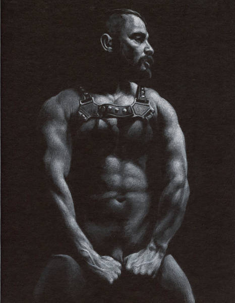 Male Nude Drawing - Oscuro 9 by Chris Lopez