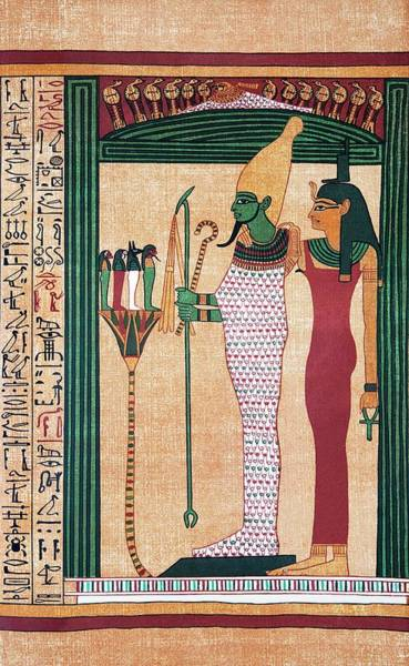 Osiris And Isis Art Print by Sheila Terry/science Photo Library