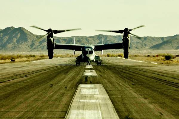 Marine Corps Photograph - Osprey Takeoff by Benjamin Yeager