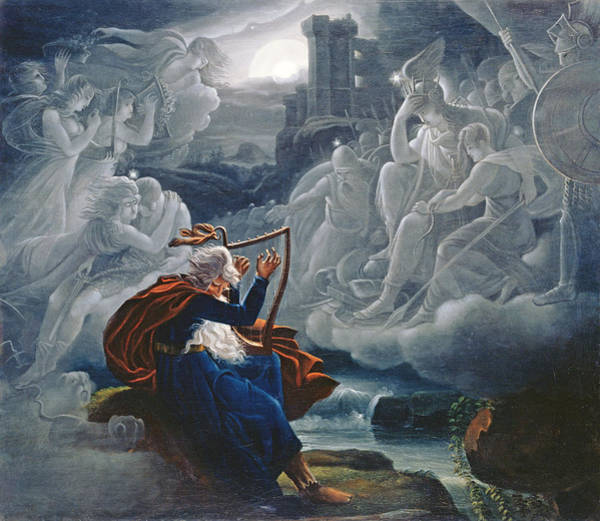 Gaelic Photograph - Ossian Conjures Up The Spirits On The Banks Of The River Lorca by Karoly Kisfaludy