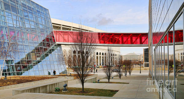 Ohio State University Photograph - Osu Rec Center And Ohio Stadium 4650 by Jack Schultz