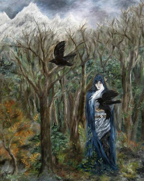 Painting - The Raven God by FT McKinstry