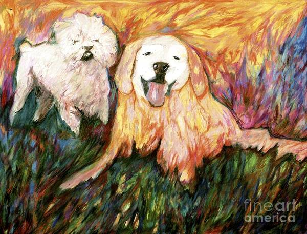 Drawing - Otis And Marley by Jon Kittleson
