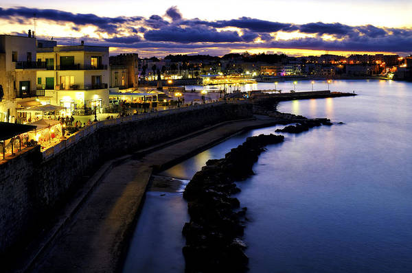 Photograph - Otranto By Night by Fabrizio Troiani