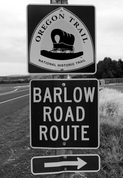 Wall Art - Photograph - Barlow Road Cutoff Sign by David Lee Thompson