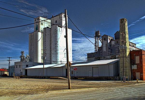 Photograph - Ottawa Coop Grain Elevators by Tim McCullough