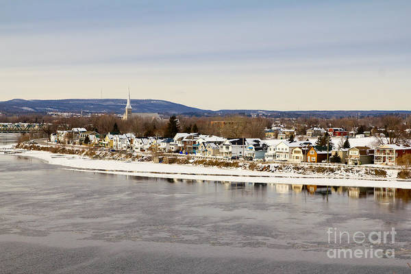 Photograph - Ottawa River And Hull In Quebec by Les Palenik