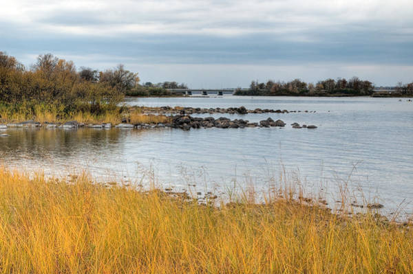 Photograph - Ottawa River In The Fall. Champlain Bridge. Remic Rapids. by Rob Huntley