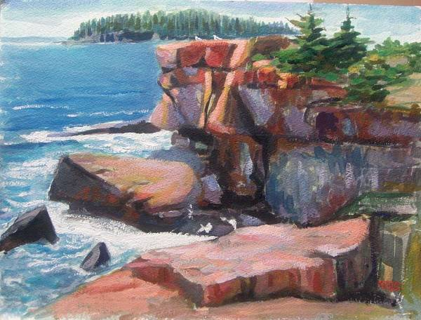 Painting - Otter Point_acadia_main by Nicolas Bouteneff