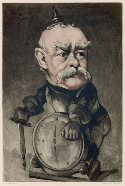 Gill Drawing - Otto Graf Von Bismarck  Depicted by Mary Evans Picture Library