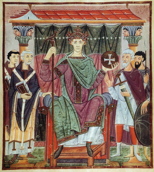 Crown Imperial Painting - Otto IIi (980-1002) by Granger