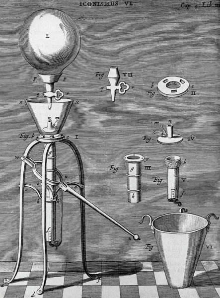 Improvement Photograph - Otto Von Guericke's Improved Air Pump by Universal History Archive/uig