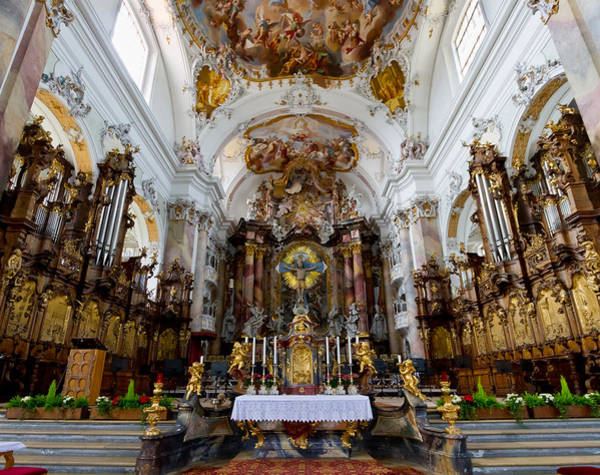 Photograph - Ottobeuren Abbey Chancel by Jenny Setchell