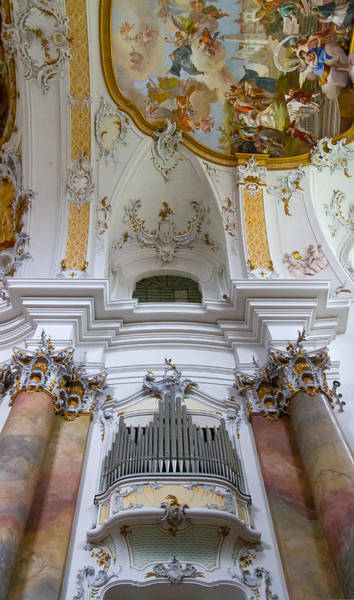 Photograph - Ottobeuren Abbey Organ And Ceiling by Jenny Setchell