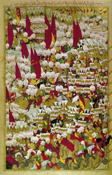 Camel Rider Painting - Ottoman Troops, 1526 by Granger