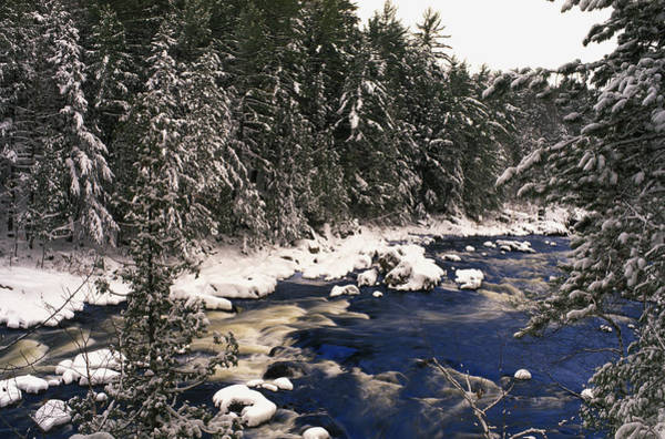 Rawdon Photograph - Ouareau River And Snow Covered by Perry Mastrovito
