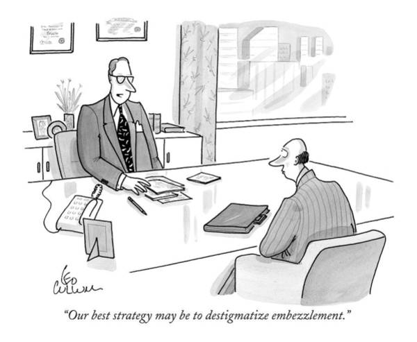 Strategy Drawing - Our Best Strategy May Be To Destigmatize by Leo Cullum