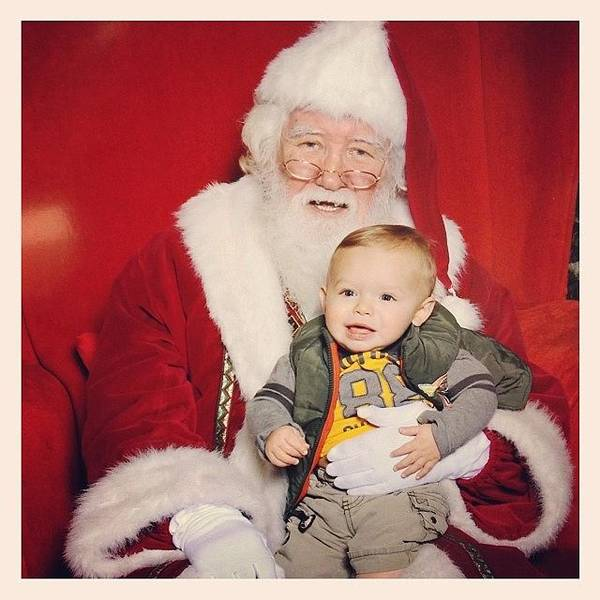 Wall Art - Photograph - Our First Picture With Santa by Jeff Wendling