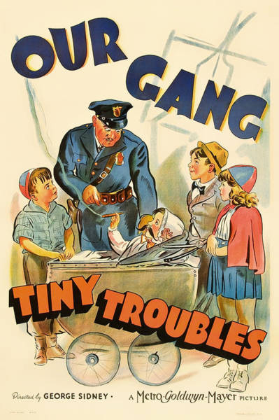 Nostalgia Drawing - Our Gang Vintage Movie Poster 1930s by Mountain Dreams
