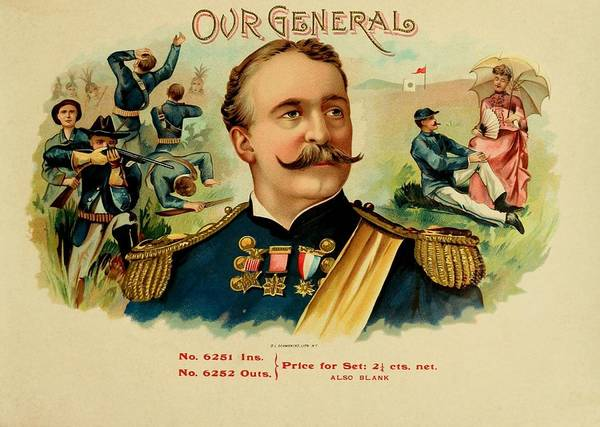 Painting - Our General Vintage Cigar Advertisement by Movie Poster Prints