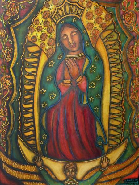 Marie Painting - Our Lady Of Glistening Grace by Marie Howell Gallery