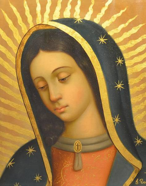 Wall Art - Painting - Our Lady Of Guadalupe by Jose antonio Robles