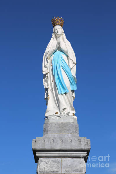 Photograph - Our Lady Of Lourdes Statue 2 by Carol Groenen