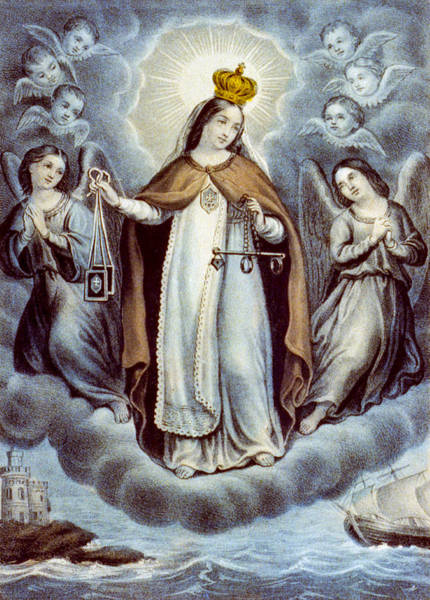 Wall Art - Painting - Our Lady Of Mercy Circa 1856  by Aged Pixel
