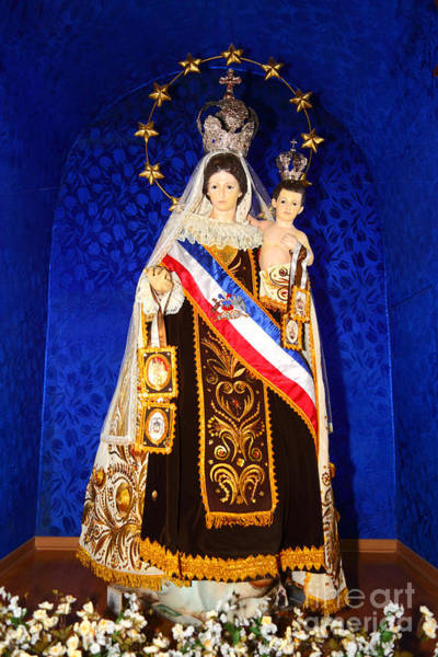 Flag Of Chile Wall Art - Photograph - Our Lady Of Mount Carmel Chile by James Brunker