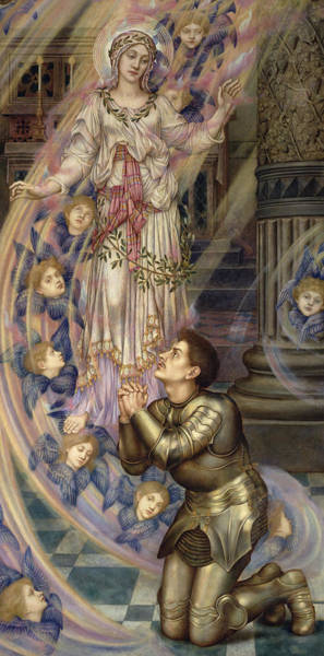 Painting - Our Lady Of Peace by Evelyn De Morgan
