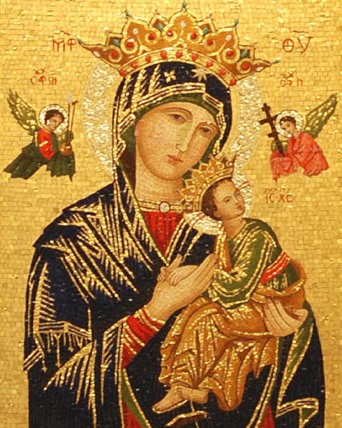 Mosaic Photograph - Our Lady Of Perpetual Help  by Philip Ralley