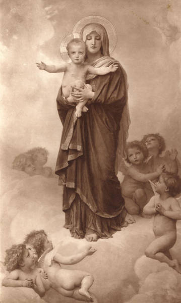 Old Masters Digital Art - Our Lady Of The Angels by William Bouguereau