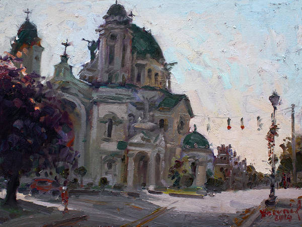 Wall Art - Painting - Our Lady Of Victory Basilica by Ylli Haruni