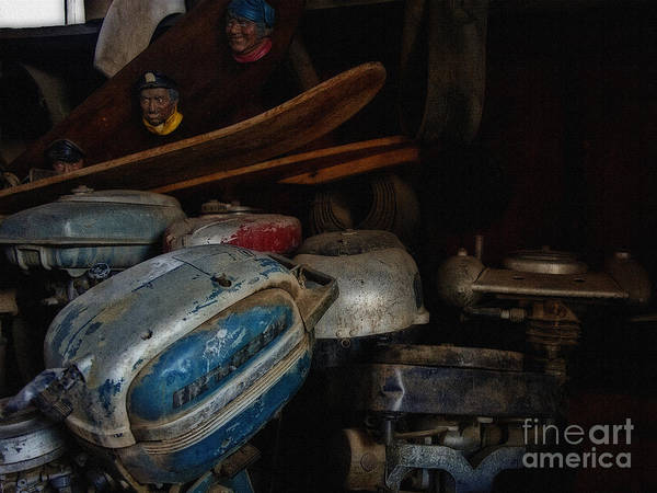 Outboard Engine Photograph - Our Ship Will Come by Lee Craig